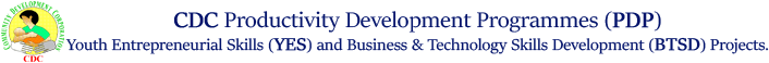 Community Development Corporation (CDC)   - Productivity Development Programme (PDP) - ComDevCorp.org